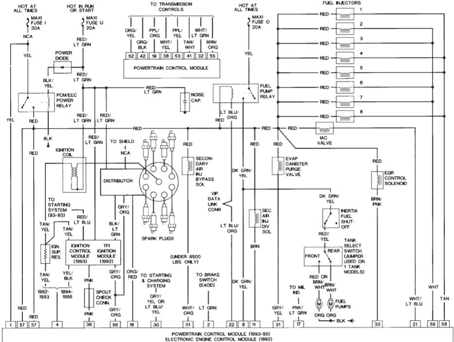 1994 Ford F150 5.8 L engine distributor wiring diagram