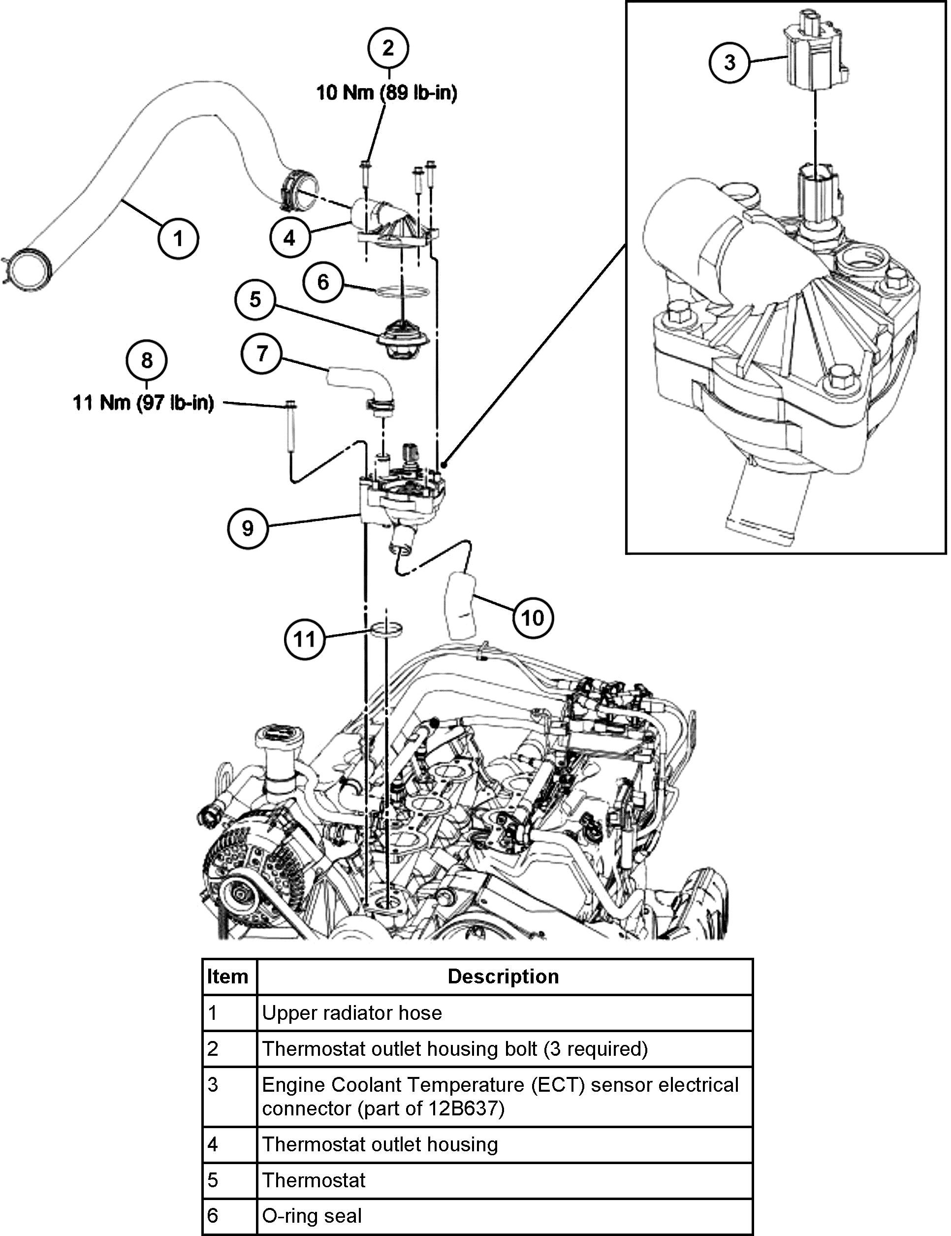 2011 Ford Ranger Thermostat Replacement