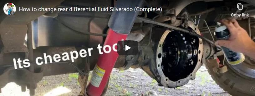 rear differentiaol fluid change