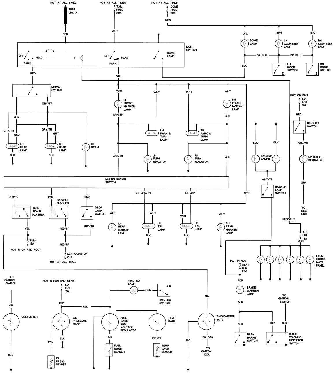 1985 Jeep Cj7 Wiring Diagram Will Be A Thing 1983 Cj Diagrams Chassis 2 Of Freeautomechanic For Clock