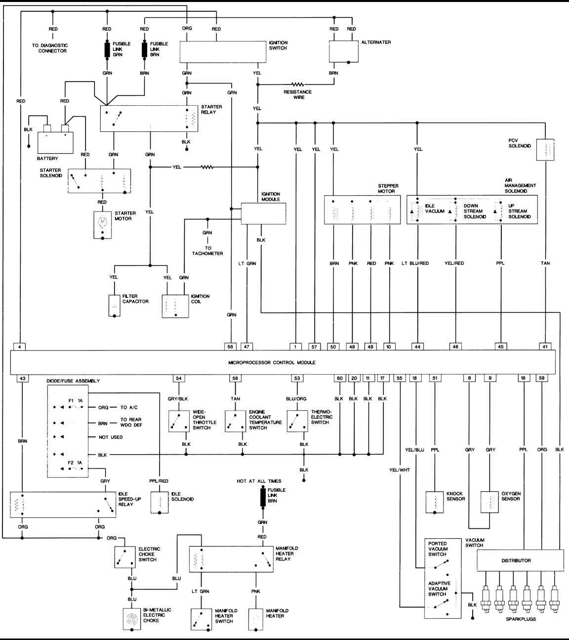 two wire alternator wiring diagram 2006 jeep wrangler two wire thermostat wiring diagram 1987 jeep wrangler 4.2l engine(large) - freeautomechanic