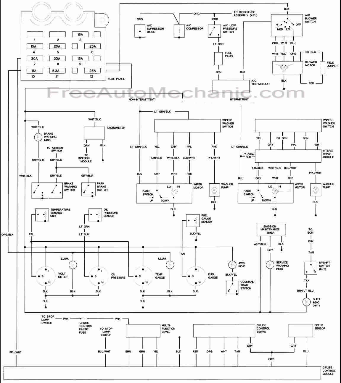 1987 Ford Radio Wiring Diagram Diagrams F 150 For Jeep Wrangler Body 1 Freeautomechanic F350 F150