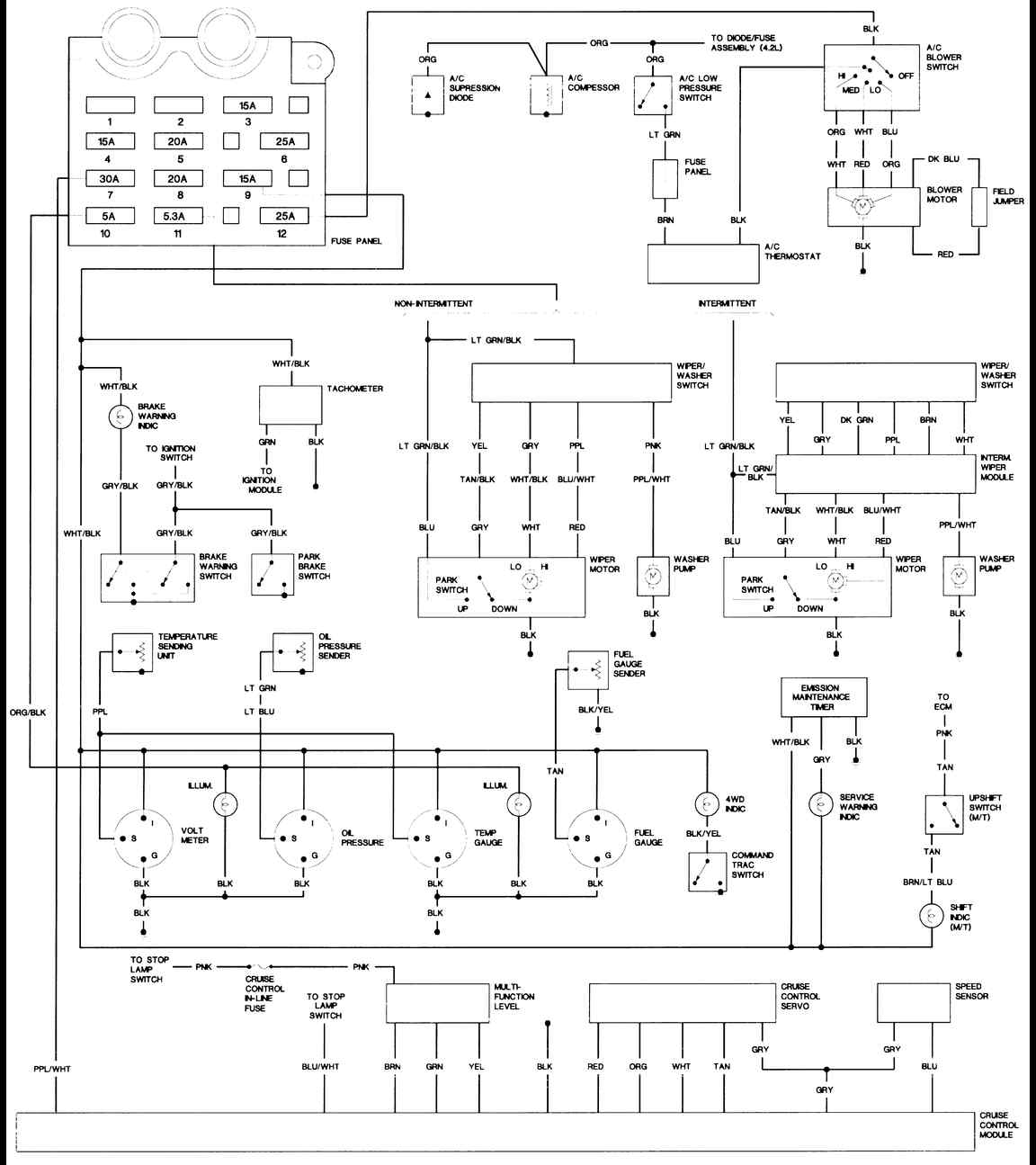 Wiring Diagram Jeep Wrangler : Jeep wiring diagrams index freeautomechanic