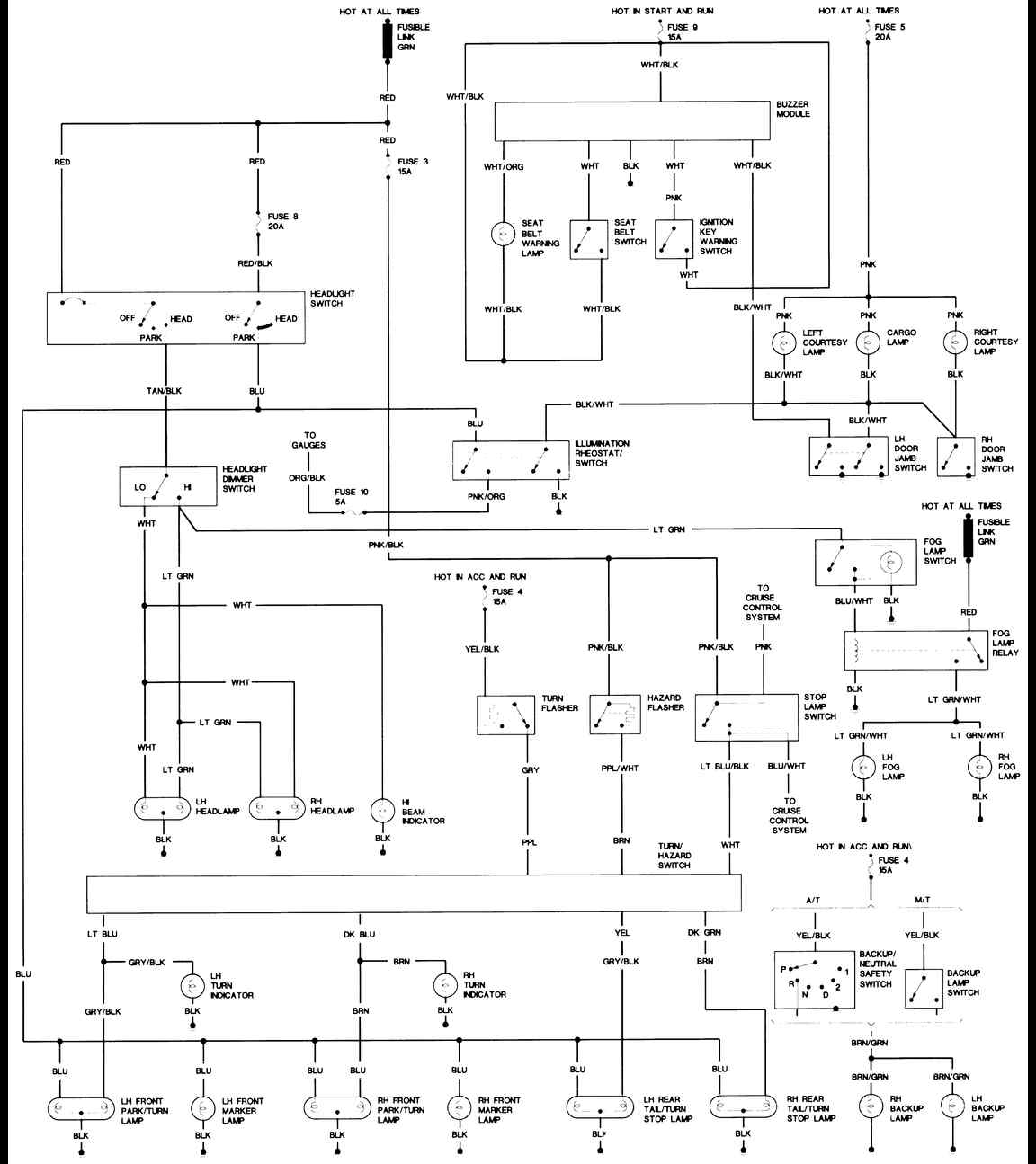 Yj Wiring Help Basic Headlight Diagram And Turn Http Freeautomechaniccom Diagrams Jeep 1988 Wrangler Body 2